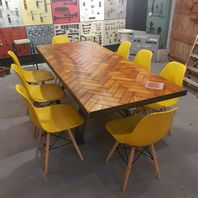 Parquet Flooring Dining Table